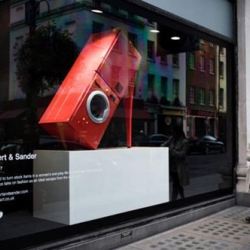 Fashion Meets Appliances in Creative Window Design.