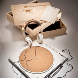 Matthew Lim's EcoVinyl, a turntable-headphone duo made from sustainable materials targeting a younger audience for Sennheiser.
