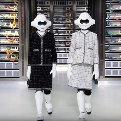 CHANEL 2017 Spring/Summer show is all about the robots... with a server rack inspired backdrop.