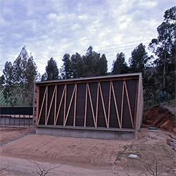 Nice wood work at the new building for productive services at the Morande Winery in Chile. By chilean wood master Martin Hurtado.