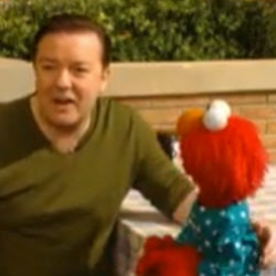Believe it or not, Sesame Street will be 40 this year! To celebrate they have some special guests but not everything will be aired. Here, Elmo and Gervais in some hilarious outtakes that are not for kids!