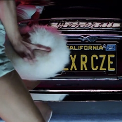 On retro car porn of sorts ~ Kylie Minogue's Sexercize video (featuring a Maserati Ghibli) by Roman Coppola and Chandelier Creative is an homage to the '65 piece 'Kustom Kar Kommandos' by Kenneth Anger. See both!