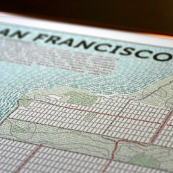 """""""HOORAY!"""" for the San Francisco typographic map from AxisMaps... limited letterpress prints coming soon, gorgeous!"""