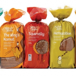 Bread packaging that make you smile. Canada-based Karacters Design Group redesign of Silver Hills Bakery's bread packaging focus on the company's simple, authentic values, and partners with a whimsical feel.