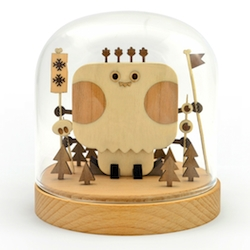 Wish upon a blizzard. Wooden Snow Shaman by Tado, for Everyday Mooonday Gallery in Seoul.