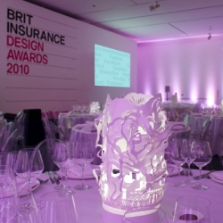 Cloud Lamp #11033 at the Brits Insurance Design Awards Ceremony at the London Design Museum. Showcasing the most innovation thinking design from around the world