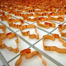 Copper Cookie Cutters as Art: Shapes from Maine by Allan McCollum