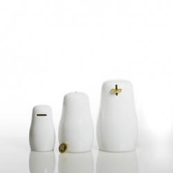 BushkaBanks by Racheli C. Sharfstein for STUDIO OOGA are inspired by silhouettes of matryoshkas. Cute!
