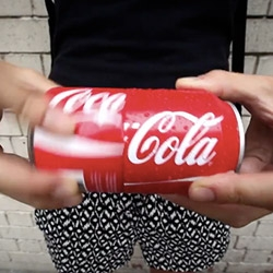 Coke Sharing Can ~ fun playful packaging twist to turn the top of the coke can into a cup!