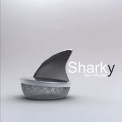 """Sharky"" Tea Infuser ~ by Pablo Matteoda."