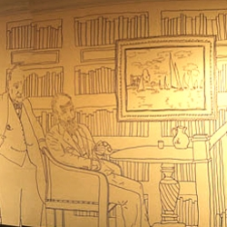 Charlie Kratzer of Kentucky covered every square inch of wall space in his basement with his own sharpie art.
