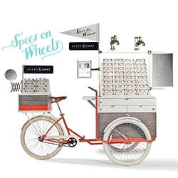 For the next couple of months the Rivet & Sway Specs On Wheels, along with a personal stylist, will be parked in Seattle at Caruh Salon & Spa to help you find that perfect pair of frames.