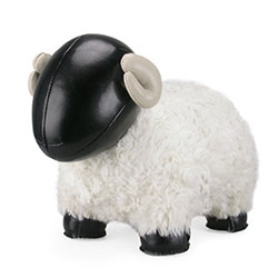 Zuny Sheep Bomy II - Made of Friendly Faux Leather, Polyester, Fur, Fiber, Iron Sand