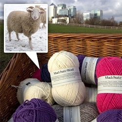 Mudchute (our favorite London farm) ~ now has Mudchute Wool - Reared and Sheared on the Isle of Dogs! So fun to see the wool from the sheep we visit every time in London!