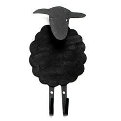 Funkis Sheep Wall Hook - Made in Sweden from metal and painted timber.