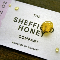 Great packaging for The Sheffield Honey Company from DED Associates.