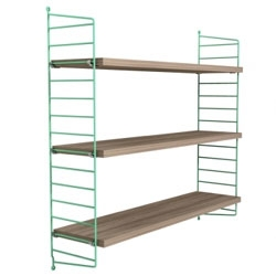String! Some selections of the classic, minimalist, swedish shelving are available to order in the US through Finnish Design Shop! Love the Soft Shelf in Mint.