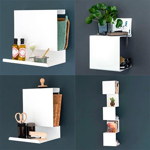 Anne Linde Shelves are so clean and versatile! Ledge:able, Big:ledge, Showcase, and more. Made of bent, powder-coated steel (so it's all magnetic too!)