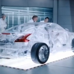 Shell just released a video showing the making of a translucent Nissan 370Z they hand built to promote their new line of engine oil. The footage examines how they managed to show the oil actually working inside the car using a painstakingly built clear engine.