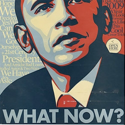 Washington Post's Philip Kennicott has a great article looking at the Obama portrait by shepard fairey ~ and the subtleties and what it may say about things in the long run...