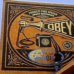 Shepard Fairey's murals in Asbury Park, New Jersey.