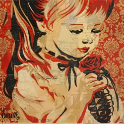 A very long interview with the artist Shepard Fairey (including podcast).