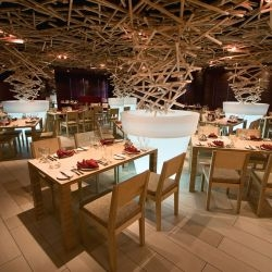 Russian designers DarkDesignGroup have recently completed the interior of the Sliver Restaurant.