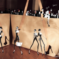 Susu is a new Australian designer handbag brand, noted for their quirky, curious, cute yet sexy designs. Their bags offer a harmonious blend of playful juxtapositions. Great illustrations too!
