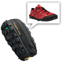 Timberland Men's Radler Trail Camp ~ This lightweight shoe zips completely into itself