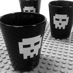Diesel Sweeties Pixel Skull Shot Glasses!