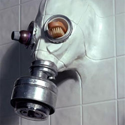 Gas Mask Showerhead... by Chris Dimino, i'm not sure how i feel about it, but i felt the need to share it.