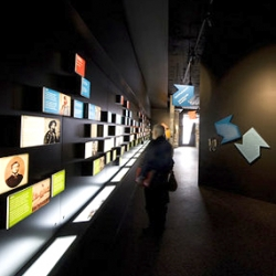 Graphic design of the permanent exhibition of Museo Italiano - Cultural Centre of Melbourne by David Pidgeon.