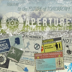 Portal 2 has some amazingly fun graphics in-game ~ smart, cheeky, retrotastic posters ~ see my favorites!