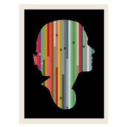 Colored, striped silhouettes via Methane Studios.