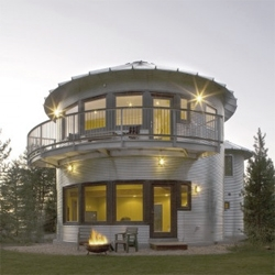 Mount Silo is a house in the shape of a... silo. By Gigaplex Architects.