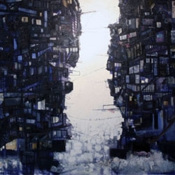 Sim Chan is only 21 years old, but his paintings seem well beyond his age. He paints large scale cityscapes that are disorientating yet stunning...