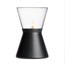 Simple/slick iittala oil lamp by Thomas Sandell. Cool patio decor.
