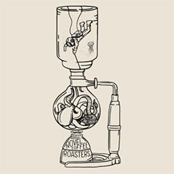Novel Coffee Roasters Siphon Tee inspired by 20,000 Leagues Under the Sea - love the octopus. Design by Joshua Minnich.