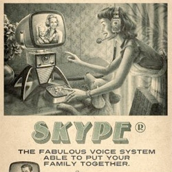 Retro advertising campaigns for YouTube, Facebook, and Skype ~ for Brazilian MaxMidia Seminars - Moma, Sao Paulo, Brazil