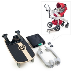 Orbit Baby releases their newest stroller accessory, the Sidekick Stroller Board.  Older kids can now stroll with their younger sibling in skateboard fashion.