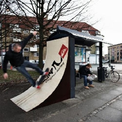 Some great guerrilla installations by Quicksilver. Just skate it!