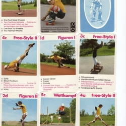 Vintage skate cards from germany.