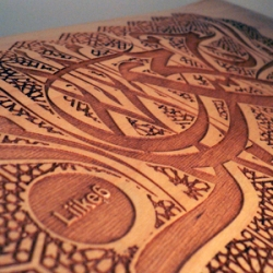 Laser engraved skateboard art by Idar and others designer objects at liike6 Helsinki based ateljee/studio/shop/gallery