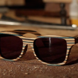 Check out Shwood Eyewear's latest experiment, sunglasses made from broken skateboard decks!
