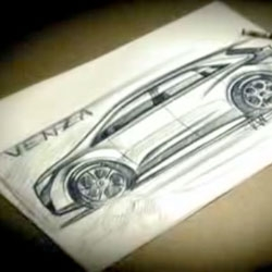 Update ~ added the time lapsed video of Toyota Project Chief Designer, Ian Cartabiano, sketching the Venza on Paper! Fun contrast to the sketch demo in photoshop.