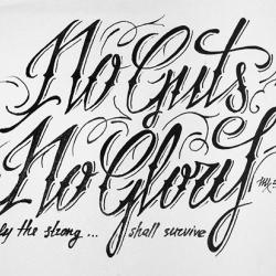 pen on paper art. Nice type.
