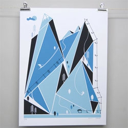 Beautiful Ski Resort print by Brainstorm