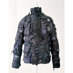 Jacket made entirely from ski gloves by Martin Margiela (seen in ID)
