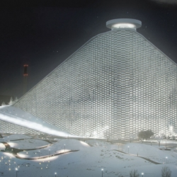 Danish architecture firm Bjarke Ingels Group has unveiled a design for a waste-to-energy plant that features an artificial ski slope on the roof.