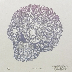 Tubgoat Printship's Woodcut Crystal Skull Print